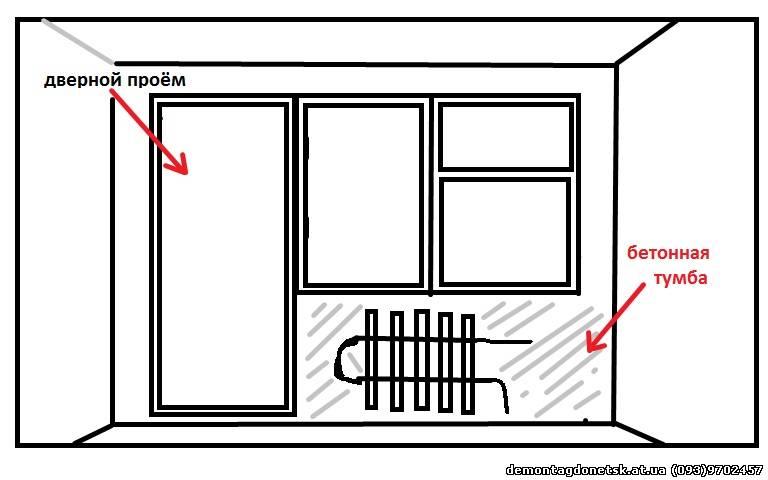 Расширение оконного проема перед балконом согласование..